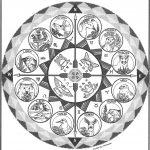 Medicine Wheel Astrology Coloring Set